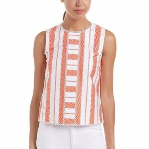 Draper James Lacey Striped Sleeveless Top